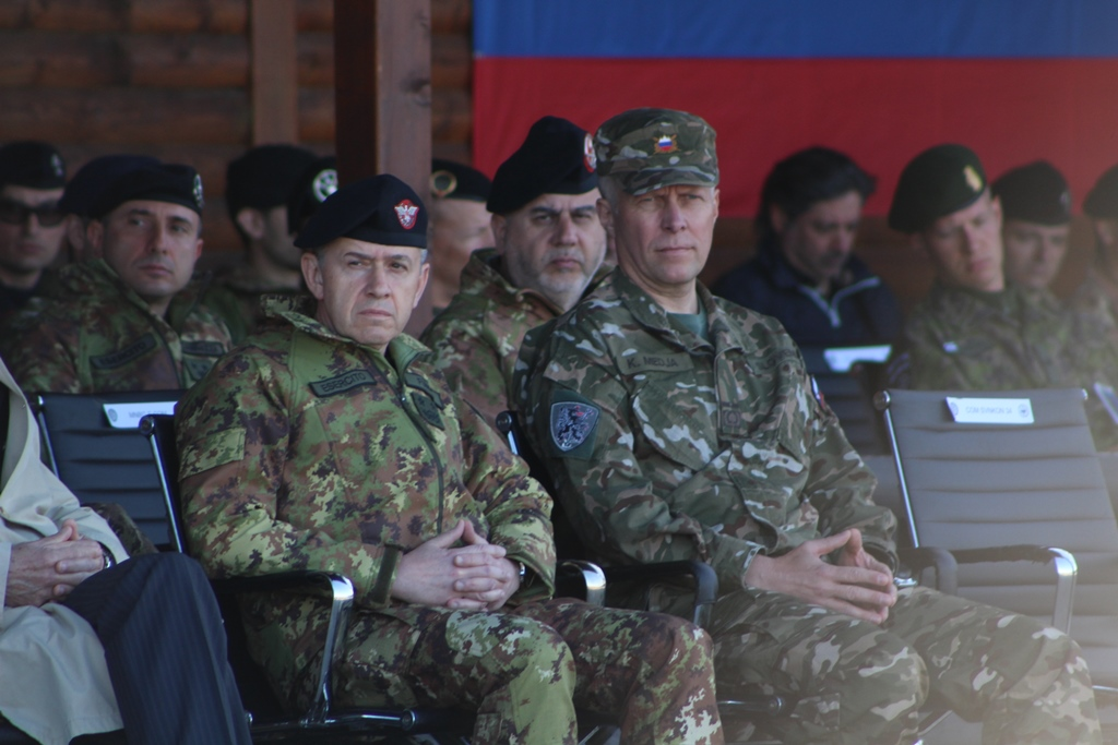 nato kfor slovenian contingent transfer of authority marked in